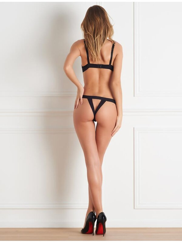 Maison Close Tapage Nocturne Open Thong Schwarz