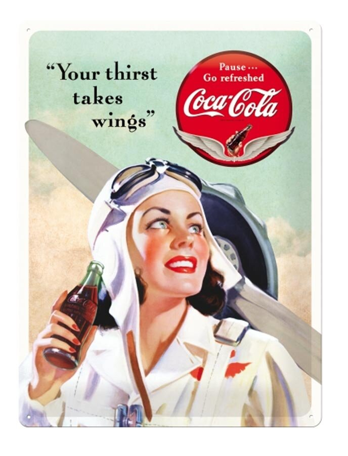 Image of Coca-Cola Takes Wings Lady