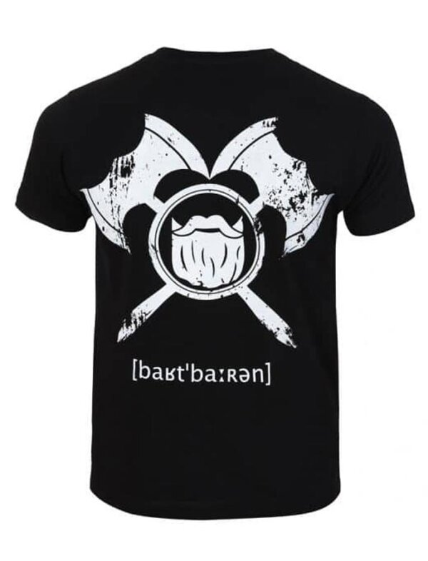 barTbaren Big Back T-Shirt Schwarz