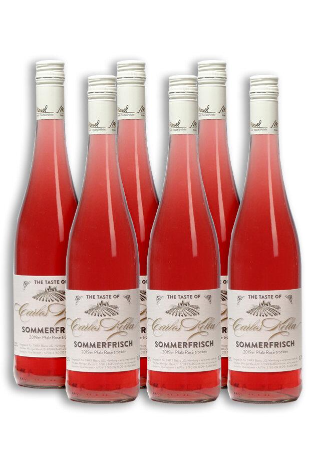 6 Flaschen Carlos Kella Rosé Sommerfrisch 0,75 L
