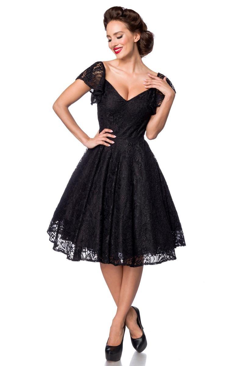 Vintage Spitzen-Kleid Schwarz
